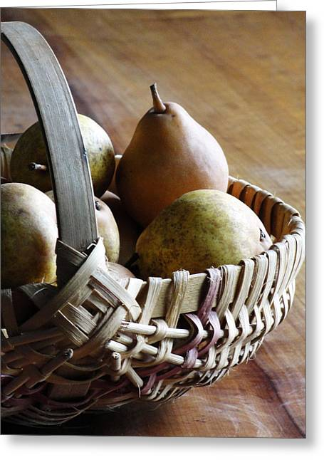 Basket And Pears Greeting Card