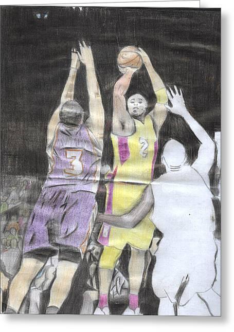 Basket Ball Greeting Card by Daniel Kabugu