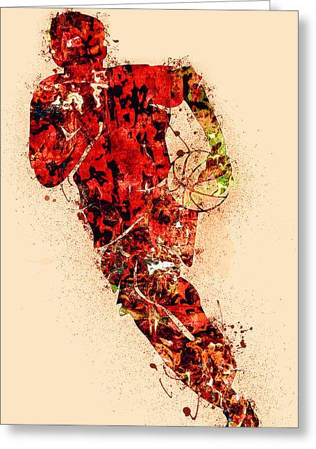 Basket Ball Greeting Card by Ishaan Mohanty