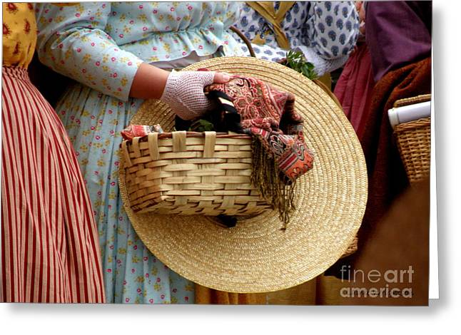 Basket In Hand Greeting Card