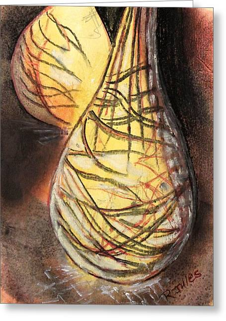 Basket Light Yellow Glow Greeting Card