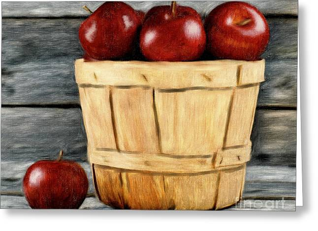 Basket Of Apples Greeting Card