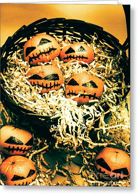 Basket Of Little Halloween Horrors Greeting Card