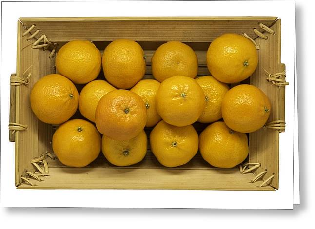 Basket Of Oranges Greeting Card by Robert Kinser