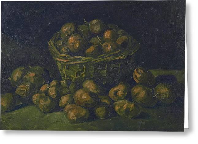 Basket Of Potatoes, 1885 02 Greeting Card by Vincent Van Gogh