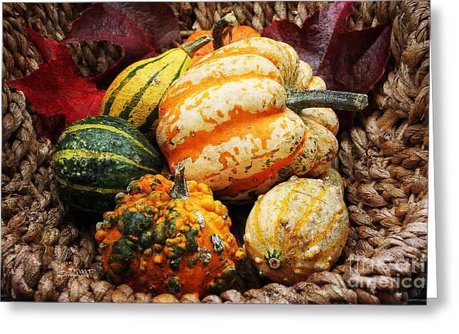 Basket Of Pumpkins Greeting Card