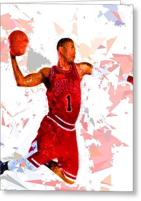 Basketball 1 Greeting Card by Movie Poster Prints