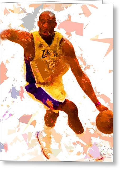 Greeting Card featuring the painting Basketball 24 A by Movie Poster Prints