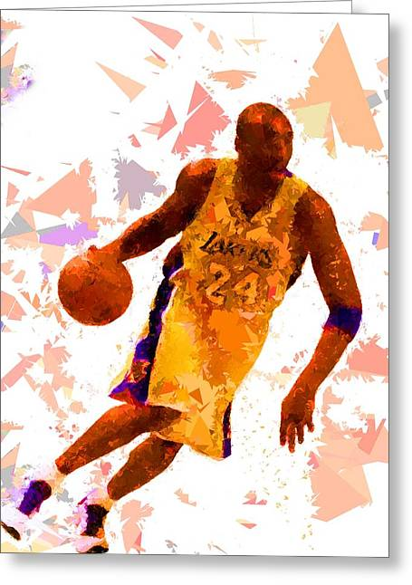 Greeting Card featuring the painting Basketball 24 by Movie Poster Prints