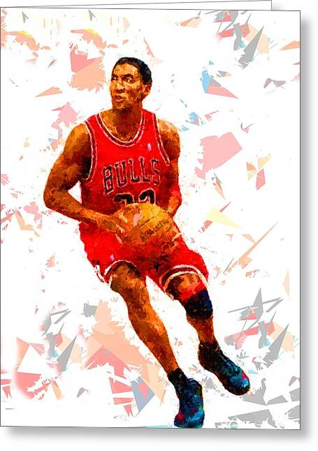 Greeting Card featuring the painting Basketball 33 by Movie Poster Prints