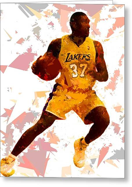 Greeting Card featuring the painting Basketball 37 by Movie Poster Prints