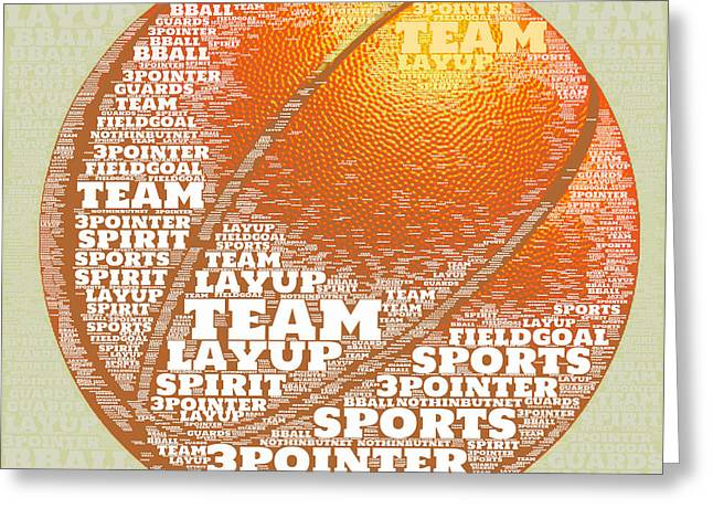 Basketball Greeting Card by Brandi Fitzgerald