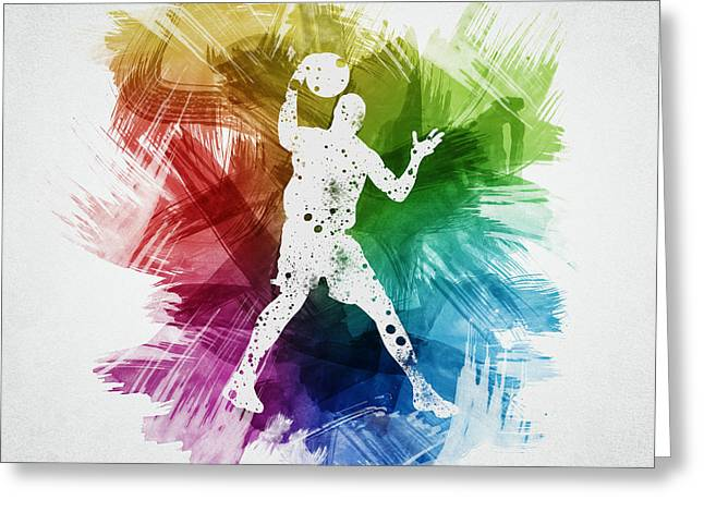 Basketball Player Art 11 Greeting Card by Aged Pixel