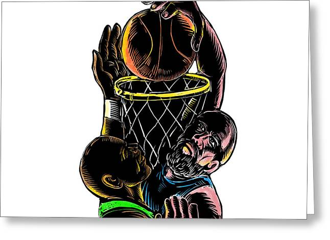 Tattoo sketch greeting cards page 5 of 20 fine art america basketball player dunking blocking ball tattoo greeting card m4hsunfo