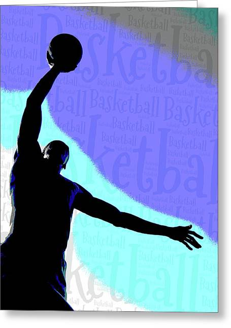 Basketball Poster Greeting Card by Bill Cannon