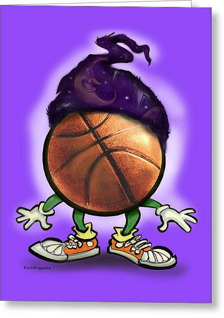 Basketball Wizard Greeting Card by Kevin Middleton