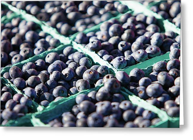 Baskets Of Blueberries Greeting Card