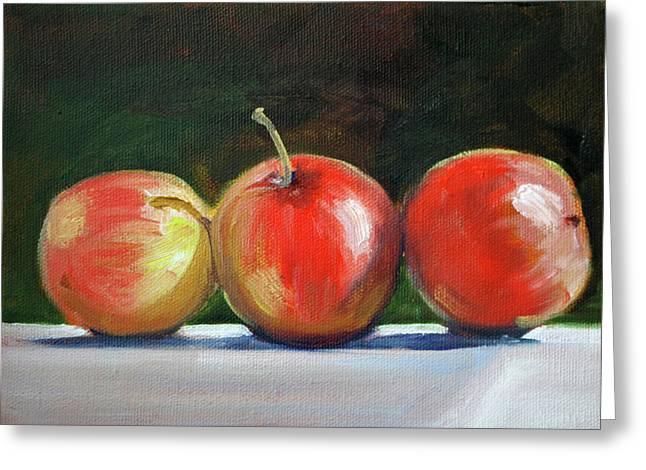 Basking Apples Greeting Card