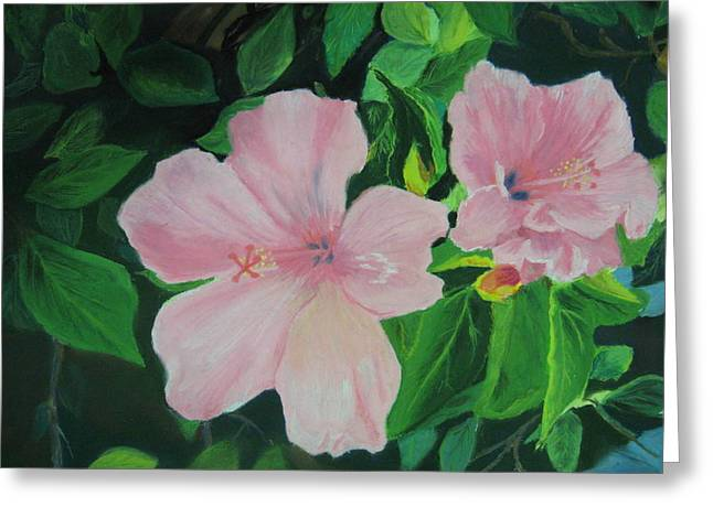 Florida Flowers Pastels Greeting Cards - Basking in the sun Greeting Card by Diane Larcheveque
