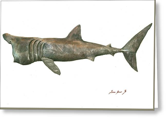 Basking Shark Greeting Card