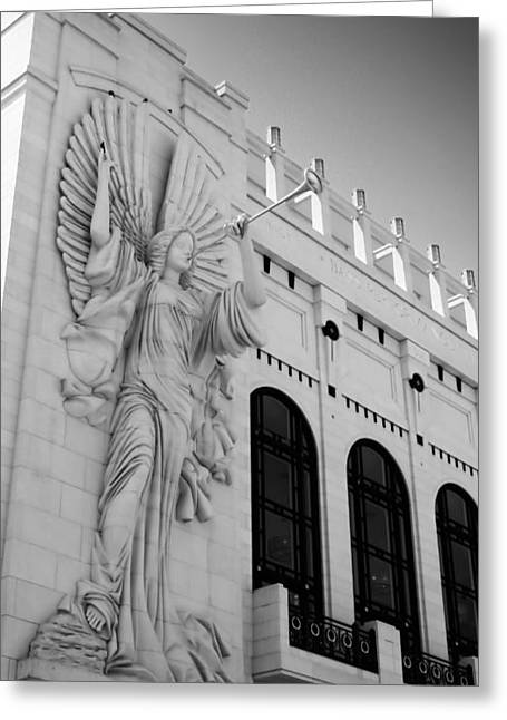 Bass Angel Bw Greeting Card