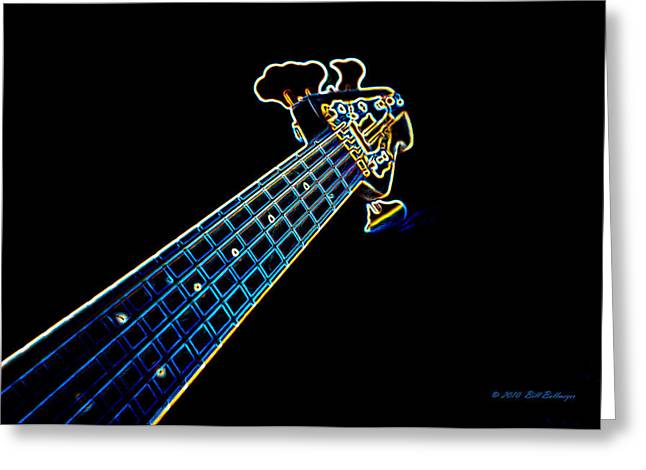 Bass Guitar Greeting Card by Bill