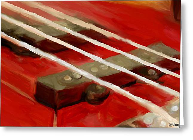 Bass Guitar Greeting Card by Jeff Montgomery