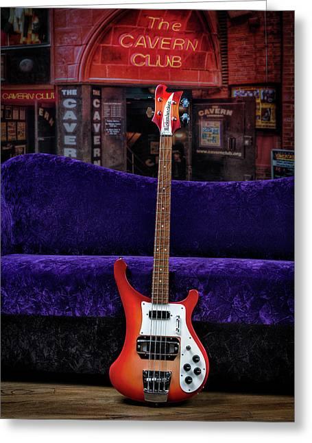 Bass Guitar Greeting Card