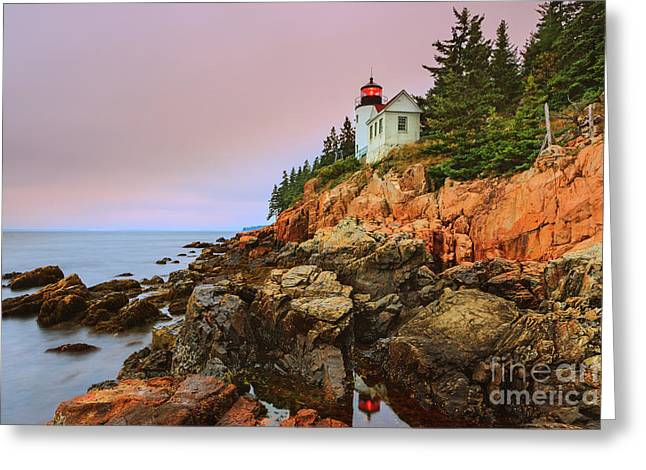 Bass Harbor Head Light - Maine Greeting Card