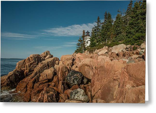 Bass Harbor Head Lighthouse Greeting Card by Capt Gerry Hare