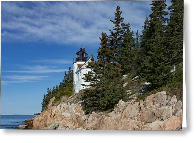 Bass Harbor Light Greeting Card by Capt Gerry Hare