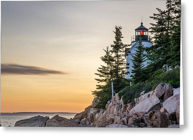 Bass Harbor Lighthouse Susnet  Greeting Card