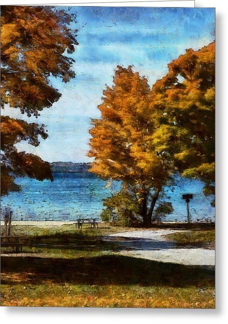 Bass Lake October Greeting Card