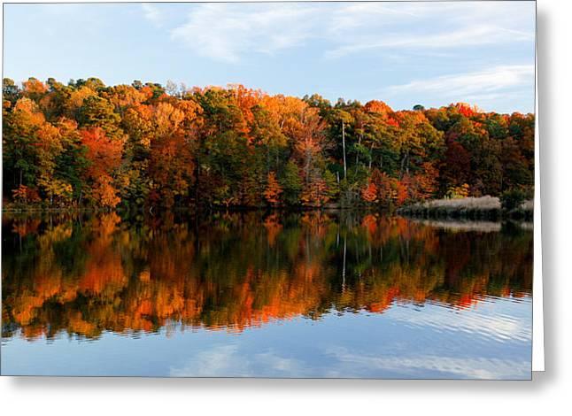Fall Splendor Greeting Cards - Bass Lake Splendor Greeting Card by Christopher McPhail