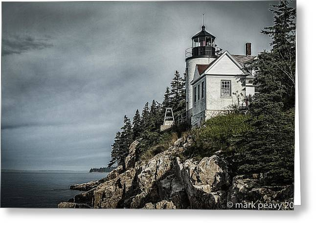 Bass Lighthouse Maine Greeting Card