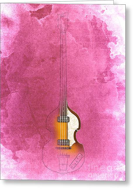 Bass - Red Rojo Greeting Card