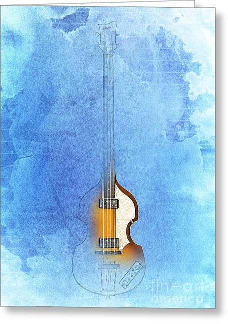 Bass Vintage Blue Greeting Card