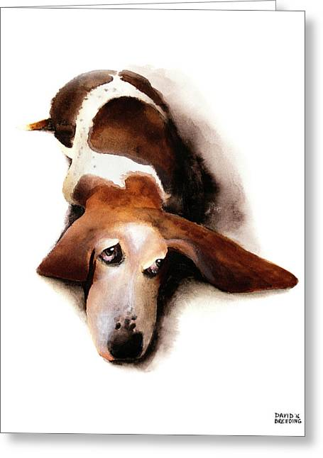 Basset Hound I - Lulu Greeting Card