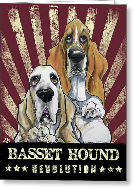 Basset Hound Revolution Greeting Card