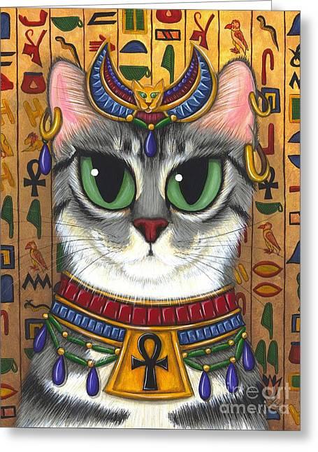Bast Goddess - Egyptian Bastet Greeting Card