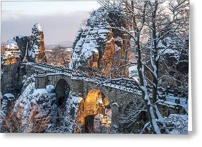 Bastei. Saxon Switzerland Greeting Card