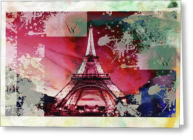 Bastille Day 1 Greeting Card by Priscilla Huber