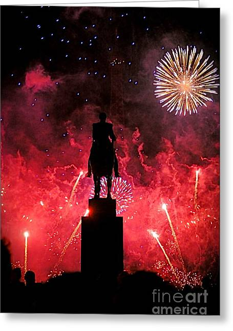 Bastille Day Greeting Card by Louise Fahy