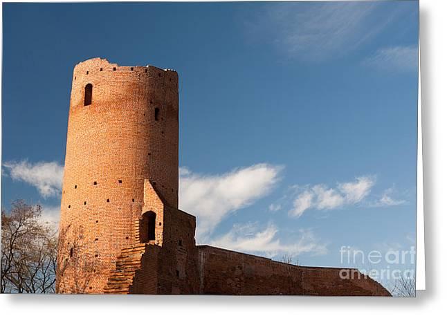 Bastille Of Czersk Castle After Renovation Greeting Card