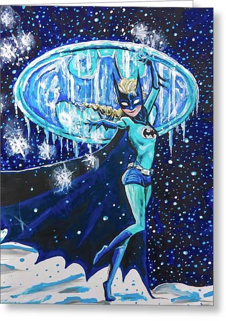 Greeting Card featuring the painting Bat Elsa by Joel Tesch