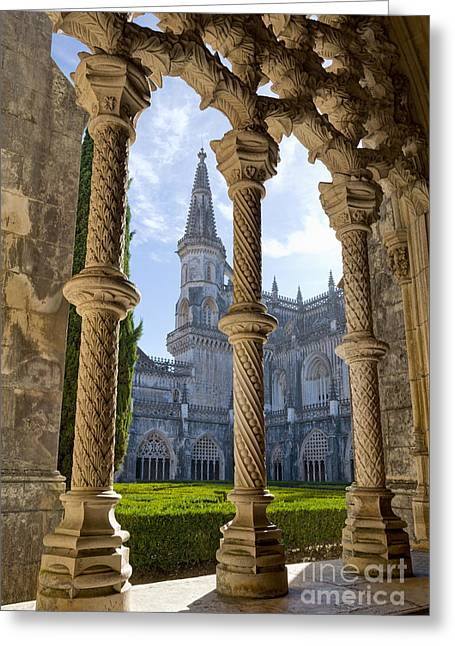 Batalha Courtyard Greeting Card by Mikehoward Photography