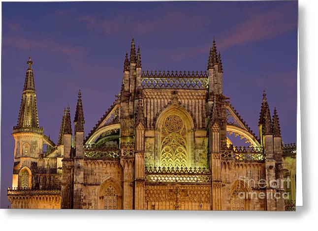 Batalha Monastery Greeting Card by Mikehoward Photography