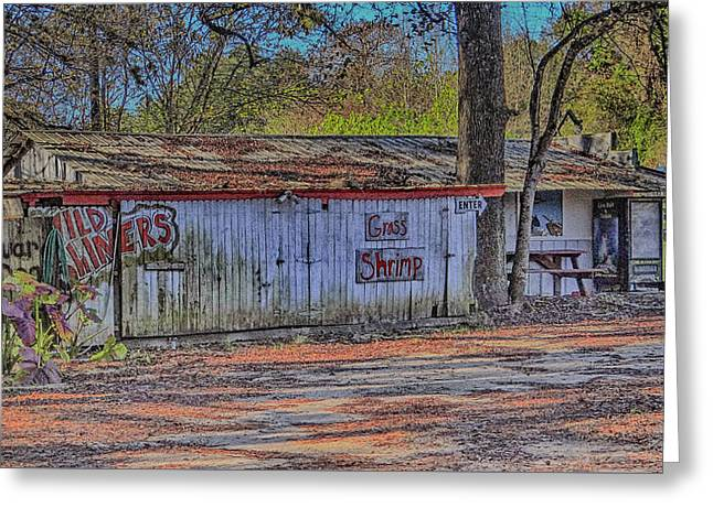 Bait Store Greeting Card by Dennis Dugan