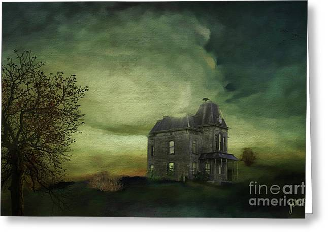 Bates Residence Greeting Card by Jim  Hatch