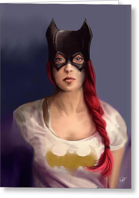 Batgirl Greeting Card by Jason Longstreet